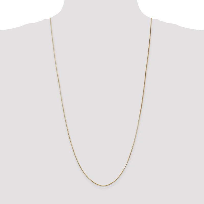 Quality Gold 14k 1.0mm Octagonal Snake Chain Anklet