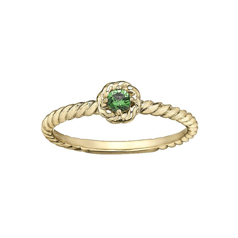 Lasting Treasures™ Emerald Ladies Solitaire