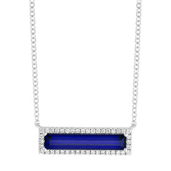 Blue Sapphire Necklace-CPN0025WBS