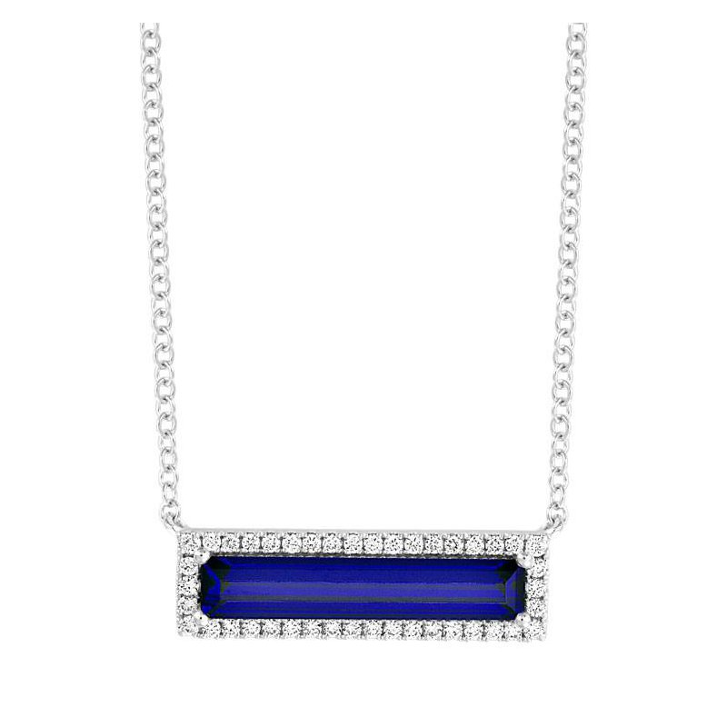 Chatham Blue Sapphire Necklace-CPN0025WBS