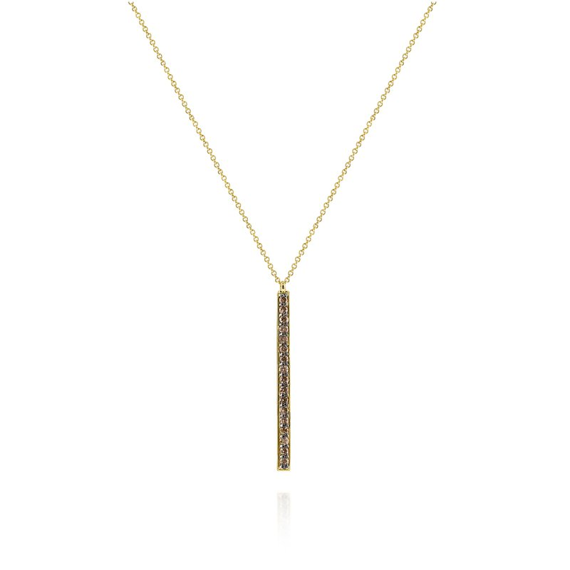 KC Designs 14K Gold and Diamond Pave Bar Pendant