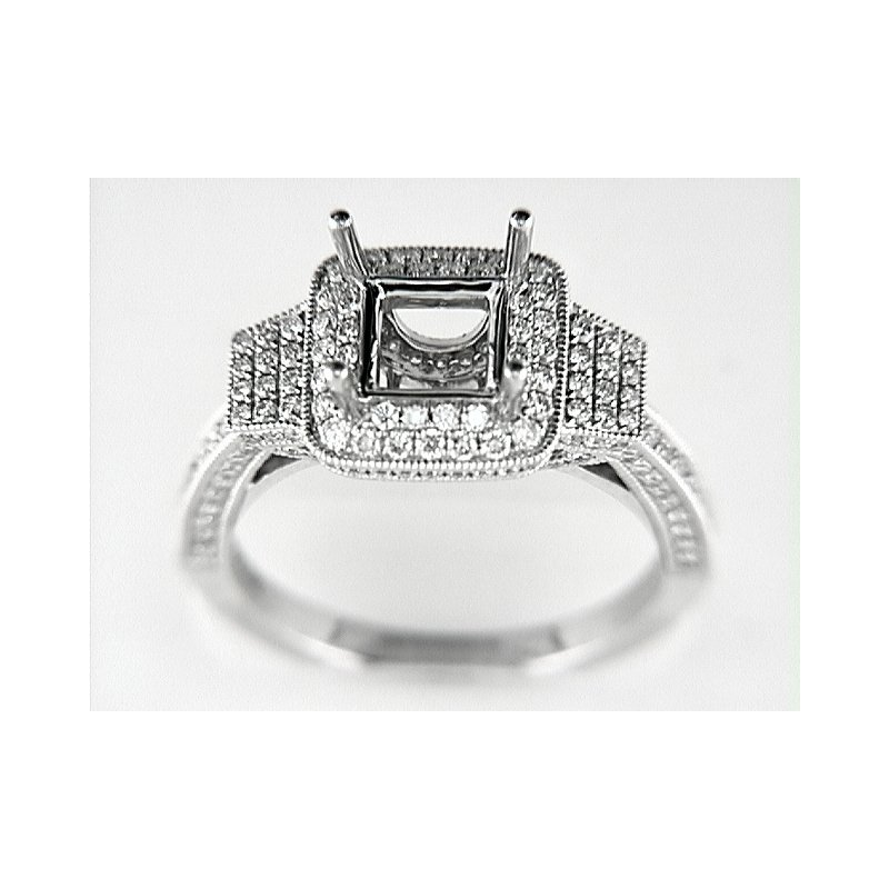Venetti 14K W RING 192 RD 0.82CT