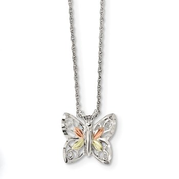 Sterling Silver & 12k Butterfly Necklace