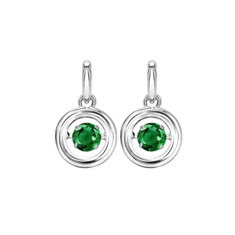 Rhythm of Love Silver Emerald Rhythm Of Love Earrings