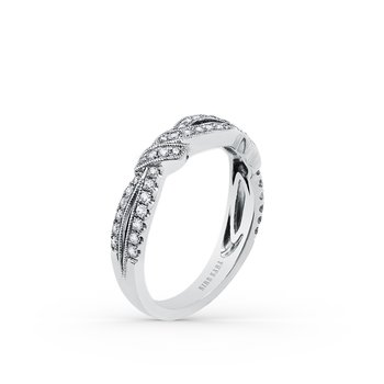 Twisted Split Shank Diamond Wedding Band