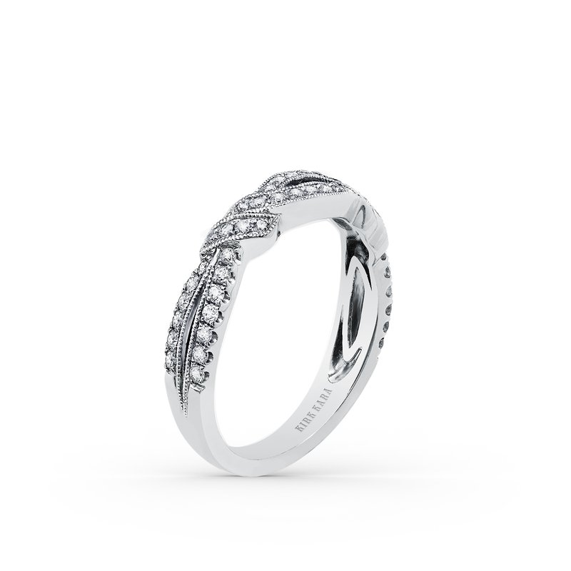 Kirk Kara Twisted Split Shank Diamond Wedding Band