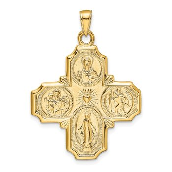 14k Four-Way Medal Pendant