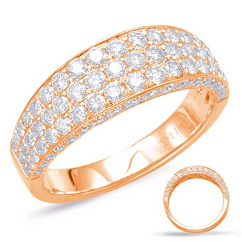 Rose Gold Pave Diamond Band