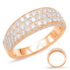 S. Kashi  & Sons Rose Gold Pave Diamond Band