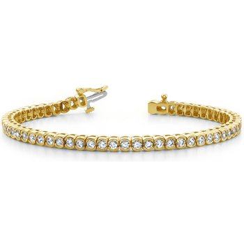 Tube Set Diamond Bracelet