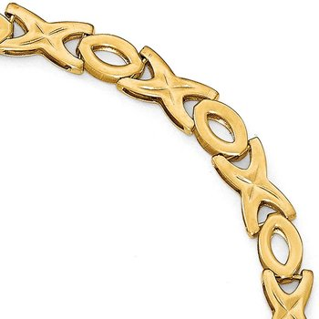 Leslie's 14K Polished XOXO Bracelet