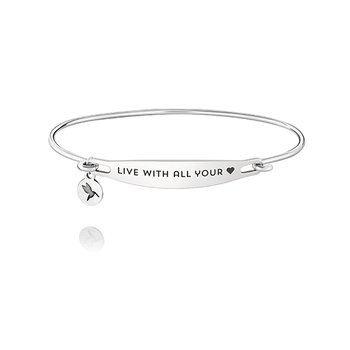 Live With All Your Heart Id Bangle