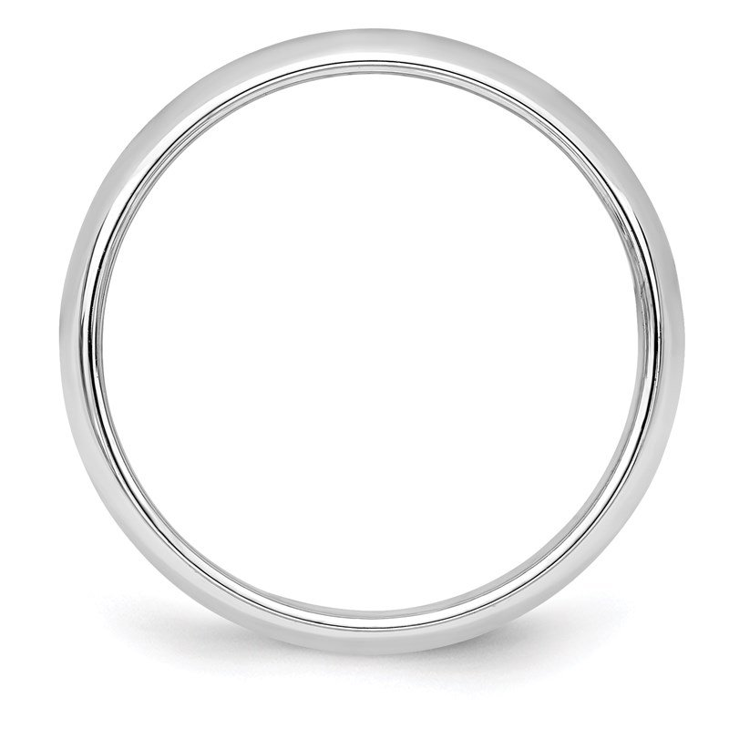 Quality Gold Sterling Silver 4mm Half-Round Band