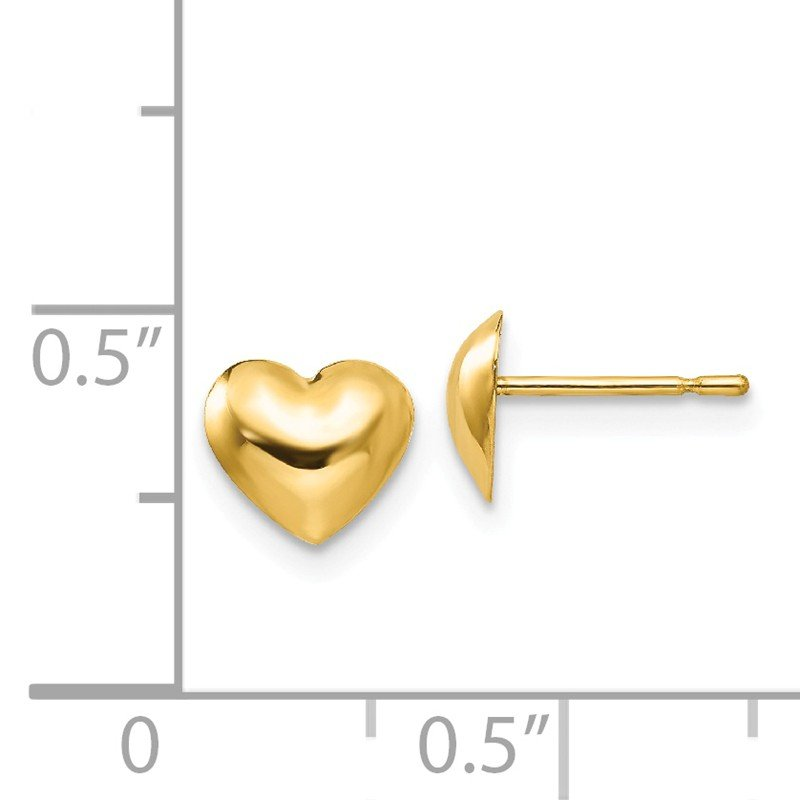Quality Gold 14k Madi K Children's Heart Post Earrings
