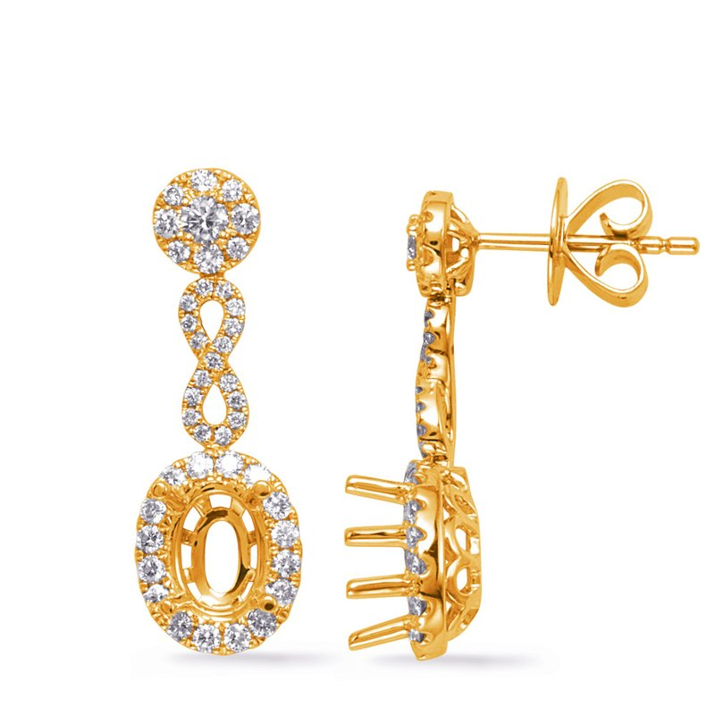 S. Kashi  & Sons Yellow Gold Diamond Earring