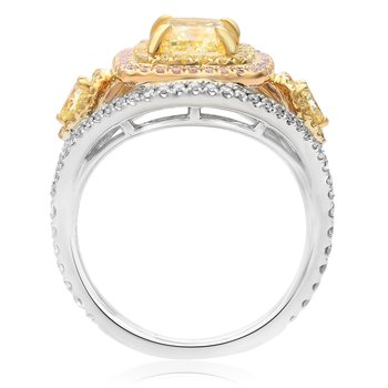 Tricolored Diamond Ring
