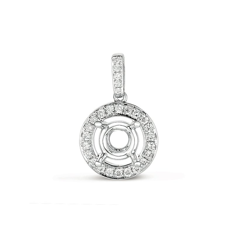 S. Kashi  & Sons Diamond Pendant For.25ct Round Stone