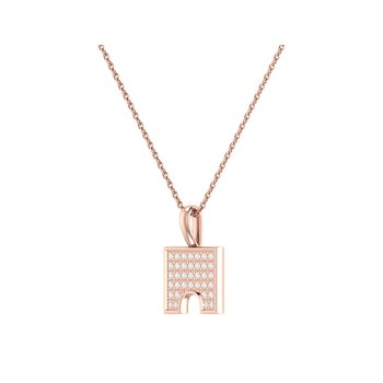 City Arches Pendant in 14 KT Rose Gold Vermeil on Sterling Silver