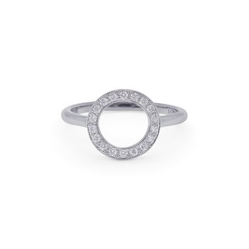 White Gold Cerchio Ring with Diamonds