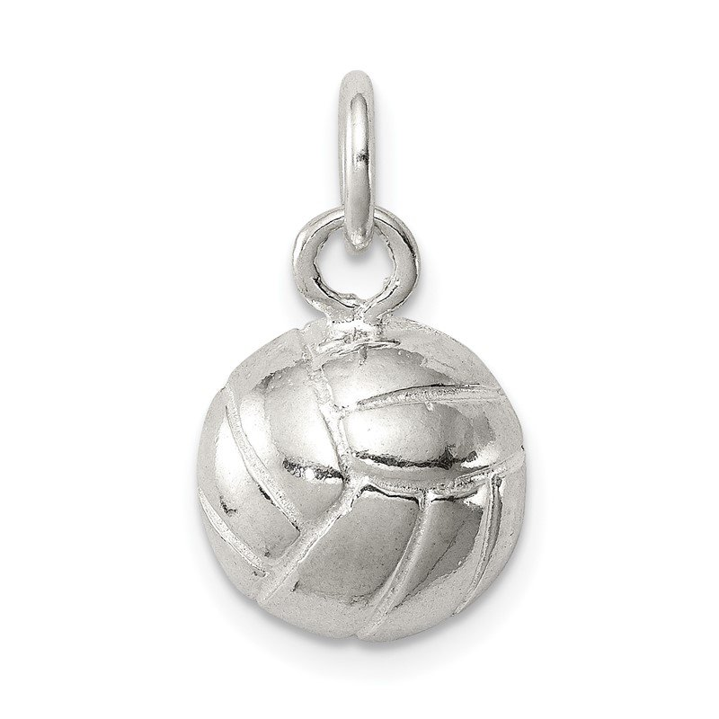 Quality Gold Sterling Silver Volleyball Charm