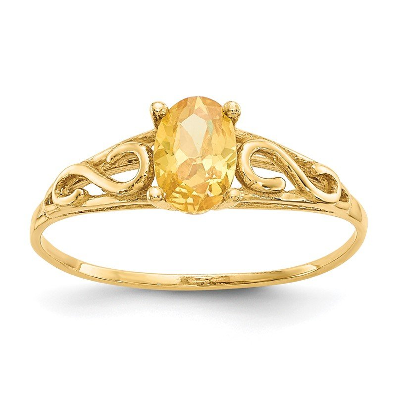 J.F. Kruse Signature Collection 14k Madi K Synthetic Citrine Ring