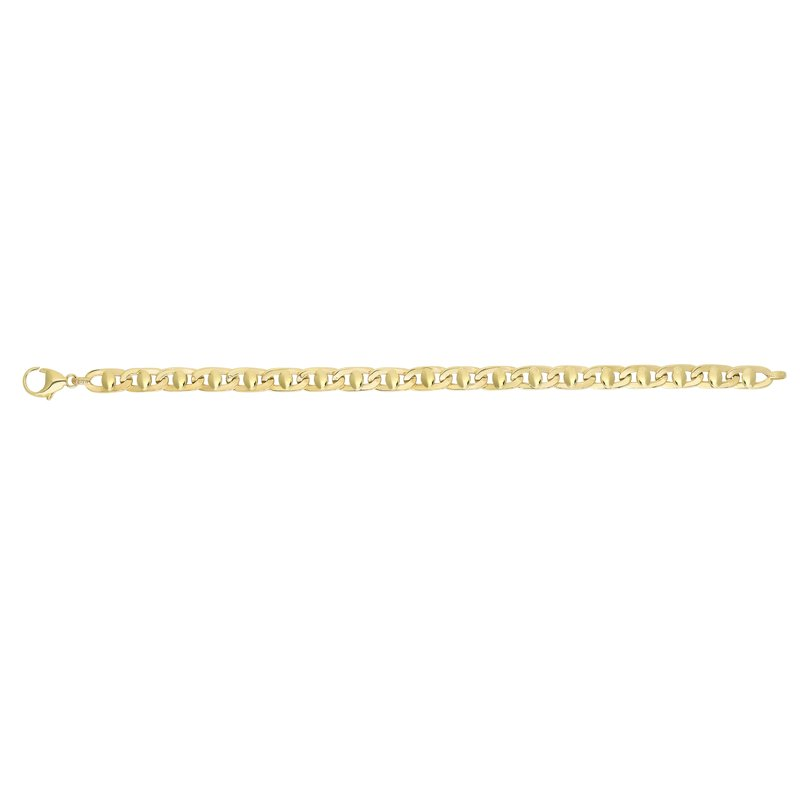 Royal Chain 14K Yellow Gold Fancy Puffed Mariner Chain