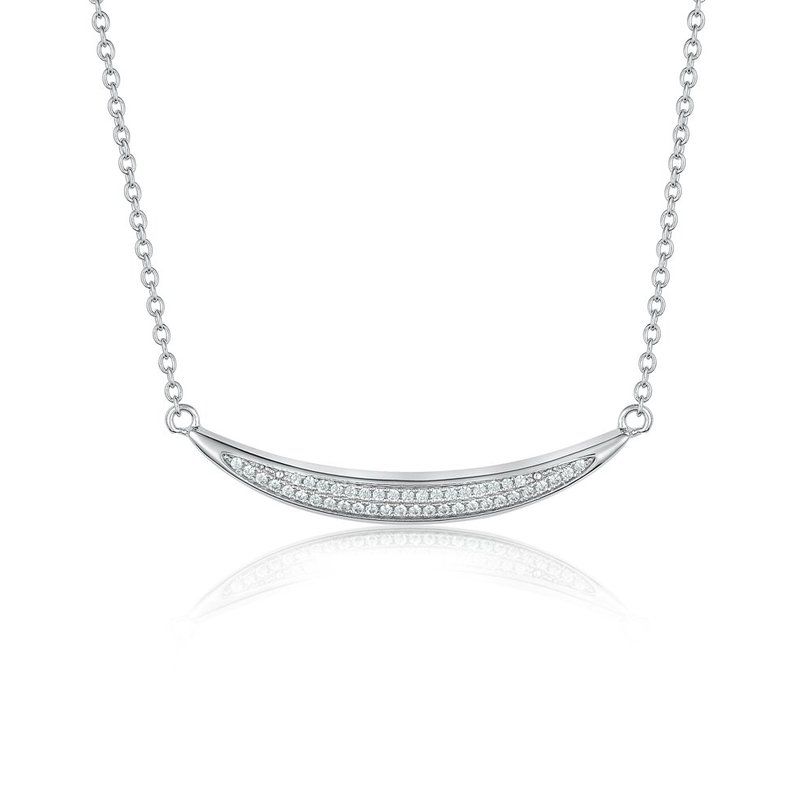 LARUS Jewelry Curved Bar Necklace