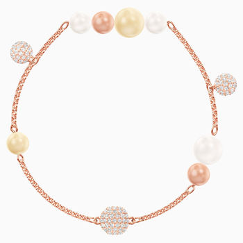 Swarovski Remix Collection Pearl Strand, Multi-colored, Rose-gold tone plated