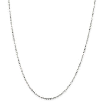 Sterling Silver 2mm Beaded Chain