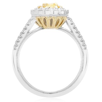 Split Shank Two Tone Diamond Ring