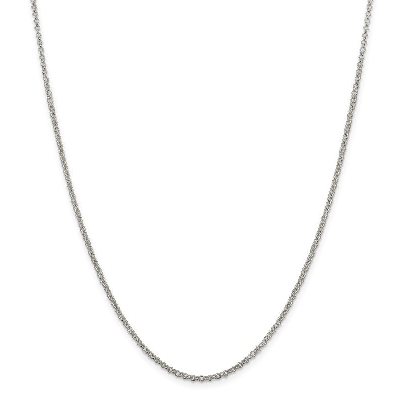 Quality Gold Sterling Silver 2mm Rolo Chain