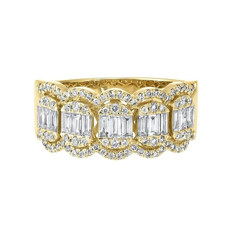 Gems One Diamond Baguette Vintage Style Band in 14k Yellow Gold (3/4ctw)