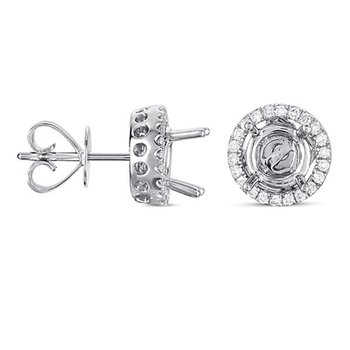 Four Prong Earring Jackets For 3.0ct TW