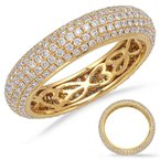 S. Kashi & Sons Bridal Yellow Gold Eternity Pave Band