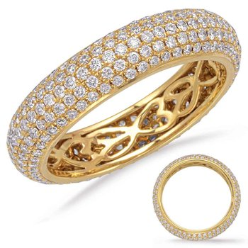 Yellow Gold Eternity Pave Band