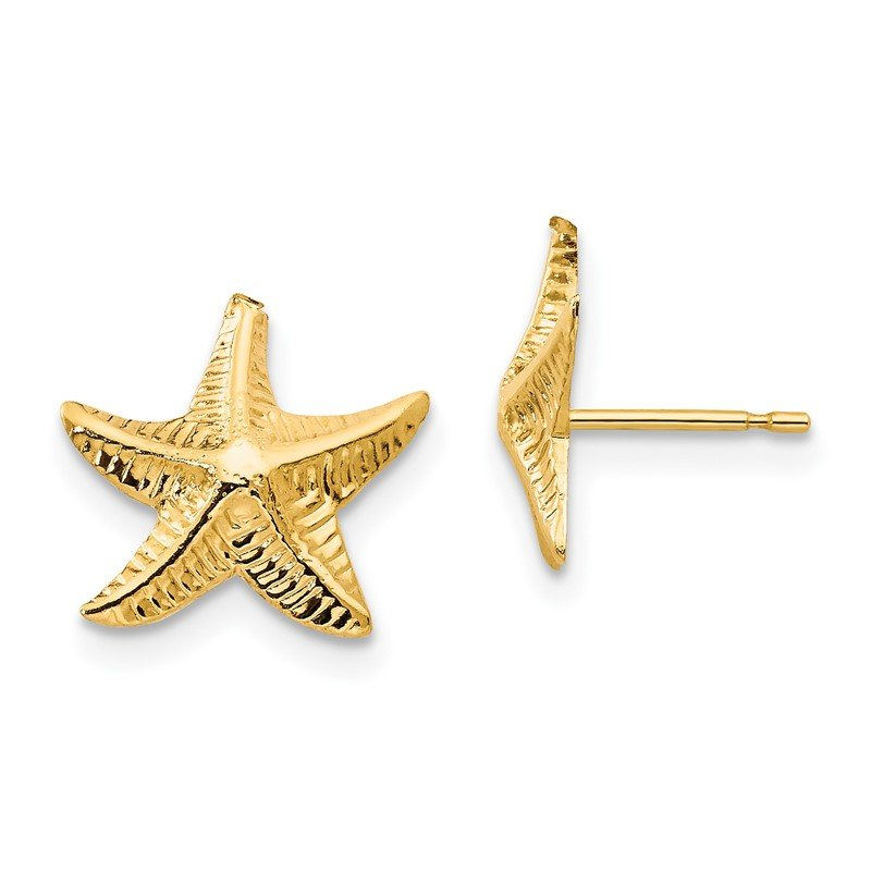 Quality Gold 14k Madi K Starfish Post Earrings