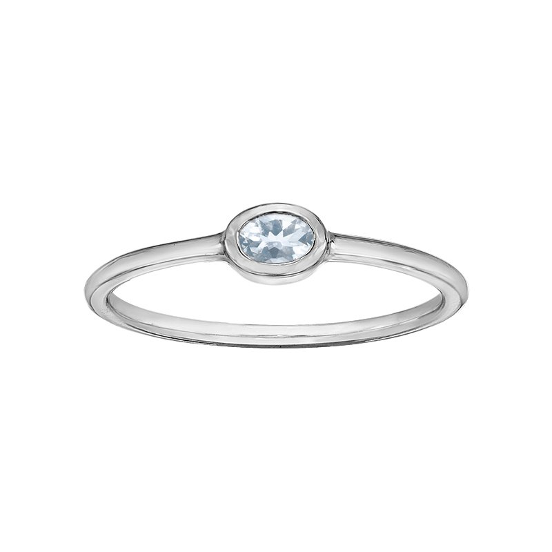 Lasting Treasures™ Aqua Ladies Ring