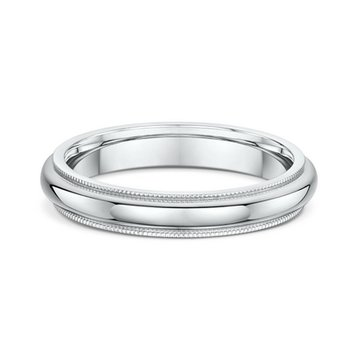 4mm Millgrain Heavy Wedding Band