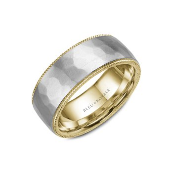 Hammered Gold Wedding Band