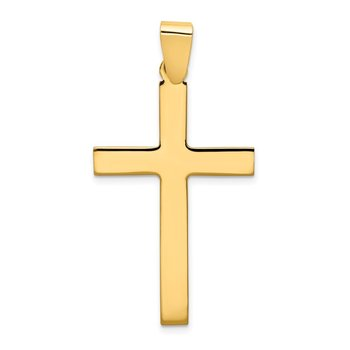 14k Polished Cross Pendant