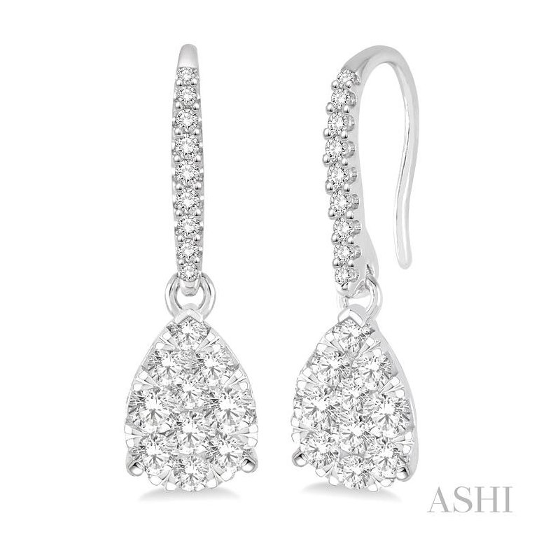 Barclay's Signature Collection pear shape lovebright diamond earrings