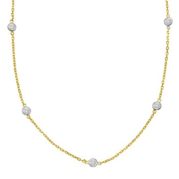 Yelow Gold Diamond By The Yard Necklace