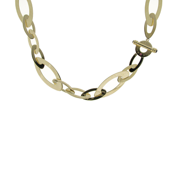 18Kt Yellow Gold Large Oval Link Necklace