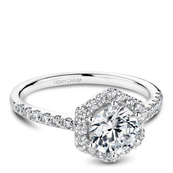Noam Carver Modern Engagement Ring B214-01A