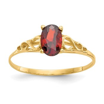 14k Madi K Synthetic Garnet Ring