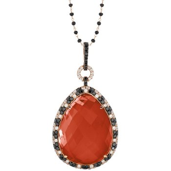 Crimson Couture Red Agate Necklace