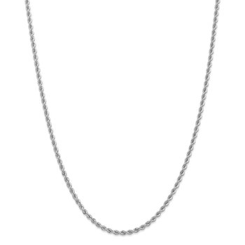 14K WG 2.75mm Regular Rope Chain