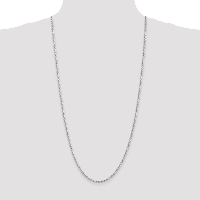Quality Gold 14K WG 2.75mm Regular Rope Chain