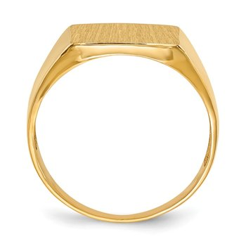 14k 13.0x13.0mm Open Back Men's Signet Ring