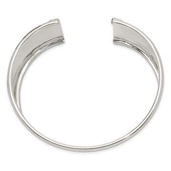 Sterling Silver 30mm Cuff Bangle Bracelet